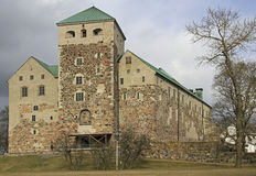 Swedish medieval castle in the town of Turku Royalty Free Stock Images