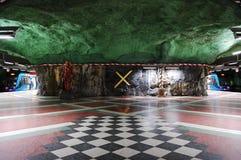 Swedish metro. Underground station in Stockholm, Sweden Royalty Free Stock Photography