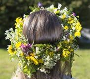 Swedish Midsummer Headgear Traditional Stock Photo