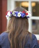 Swedish Midsummer Headgear Traditional Stock Photos