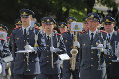 Swedish military band Stock Photo