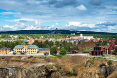 Swedish Mining Town Falun. View of the Swedish mining town Falun. Home of the largest copper mine in Sweden. Today a museum Royalty Free Stock Photo