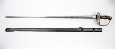 Swedish Model 1893 Cavalry Trooper Sword. Used in the first half of the 20th century Royalty Free Stock Image