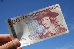 Swedish money. Swedish five hundred bill Royalty Free Stock Photo