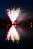 Swedish multicolored fireworks Royalty Free Stock Photo