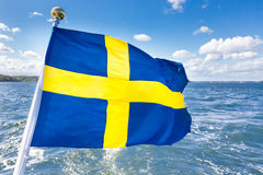 Swedish national flag. Royalty Free Stock Photography