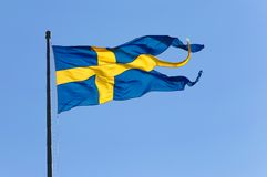 Swedish naval flag Royalty Free Stock Photos