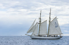 Swedish navy schooner HMS Gladan stock photography