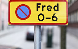 Swedish no parking sign Stock Image