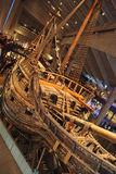 Swedish old battle-ship VASA in musem - Stockholm Stock Photos