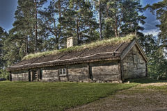 An Swedish old wooden house from the 1690s in HDR royalty free stock images