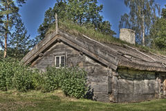 An Swedish old wooden house  from the 1690s  in HDR Stock Photo