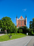 Swedish palace in Stockholm park (Sweden) Royalty Free Stock Images