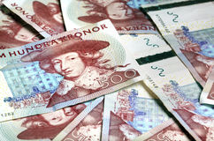 Swedish paper currency Royalty Free Stock Images