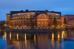Swedish parlament Stock Photography