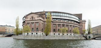 Swedish Parlament building located on Helgeansholmen in the center of Stockholm Stock Images