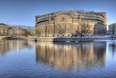 Swedish Parliament building. Swedish Parliament building in Stockholm, Sweden royalty free stock photography