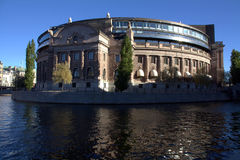 Swedish parliament building Stock Photography