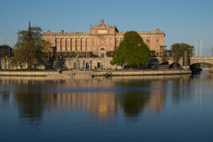 Swedish parliament Riksdagshuset, Stockholm, Sweden Royalty Free Stock Images