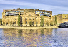 Swedish parliament, Stockholm. Stock Photography
