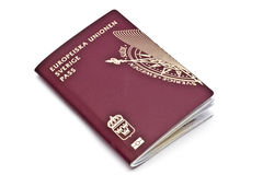 Swedish passport Stock Image