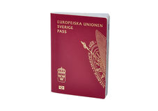 Swedish passport royalty free stock images
