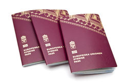 Swedish passport Royalty Free Stock Photography