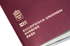 Swedish passport Royalty Free Stock Photo