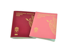 Swedish passports isolated Stock Photo