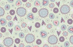 Swedish pattern design Royalty Free Stock Photo