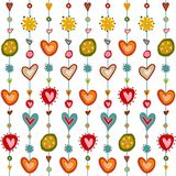 Swedish pattern design Royalty Free Stock Images