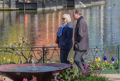Swedish PM at Tivoli Denmark with his wife. Swedish Prime Minister Stefan Löfven spending his day off before 1st May with his wife Ulla at Tivoli in Denmark Royalty Free Stock Photography