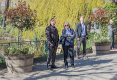 Swedish PM at Tivoli Denmark with his wife. Swedish Prime Minister Stefan Löfven spending his day off before 1st May with his wife Ulla at Tivoli in Denmark Royalty Free Stock Image