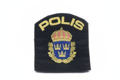 Swedish Police  Badge Stock Image