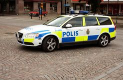 Free Swedish Police Car Royalty Free Stock Images - 36125919