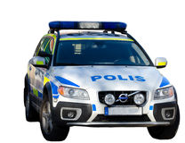 Swedish police car Stock Photo