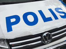 Swedish police car Royalty Free Stock Images