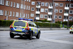 SWEDISH POLICE CARS Stock Images