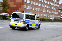 SWEDISH POLICE CARS Stock Photos