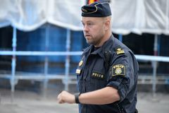 Swedish police officer stock photography