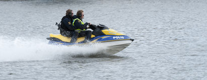 Free Swedish Police Watercraft At High Speed Royalty Free Stock Images - 29304019