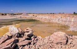 Swedish quarry on Oland island Stock Images
