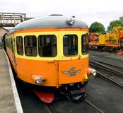 Swedish Rail car. At Nene Valley Railway stock image