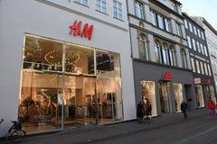 SWEDISH REATIL STPRE H&M IN COPENHAGEN DENMARK. Copenhagen/Denmark 11..October 2018.. Swedish etail store H&M Hennese & mauritz in danish capitak Copenhagen royalty free stock photography