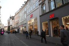 SWEDISH REATIL STPRE H&M IN COPENHAGEN DENMARK. Copenhagen/Denmark 11..October 2018.. Swedish etail store H&M Hennese & mauritz in danish capitak Copenhagen stock images
