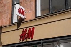 SWEDISH RETAIL h&m STORE. Copenhagen/Denmark 22 April 2018_ .Swedish rtail H&M store on pedesytrain stroget in danish capital. Photo.Francis Joseph Dean / stock photos