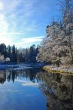 Swedish river in winter  Stock Photography