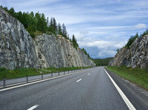 Swedish roads Stock Images