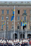 The swedish royal castle before the wedding Stock Photos