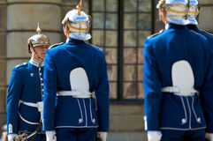 Swedish Royal Guard. With traditional uniform Royalty Free Stock Photo